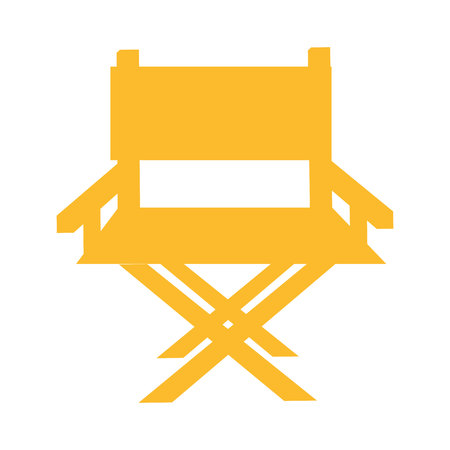 live entertainment: chair director production film icon vector illustration design