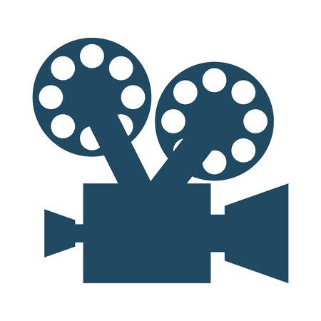 cinta pelicula: película de la película icono de la cámara ilustración vectorial de diseño