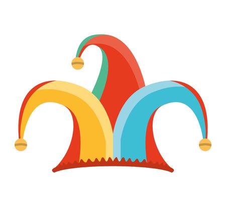 bobo: tonto sombrero de bufón icono de ilustración vectorial de diseño Vectores