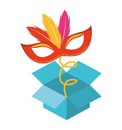 idiot box: surprise box Fools Day icon vector illustration design Illustration