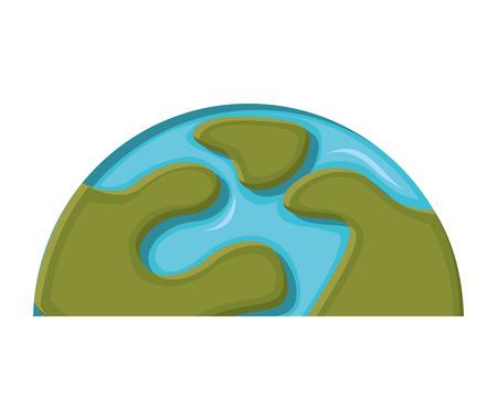 half globe: world planet earth icon vector illustration design
