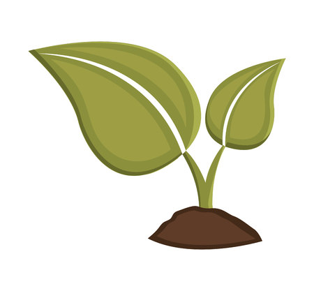 ground: leafs plant ground icon vector illustration design Illustration