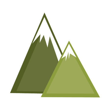 mountains ice natural icon vector illustration design