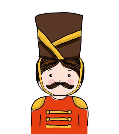 nutscraker soldier character icon vector illustration design