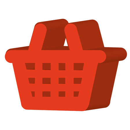 general store: basket shopping store icon vector illustration design Illustration