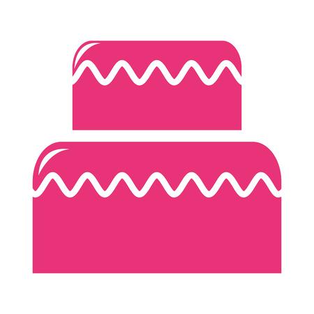 deliziosa torta di disegno silhouette icona illustrazione vettoriale Vettoriali