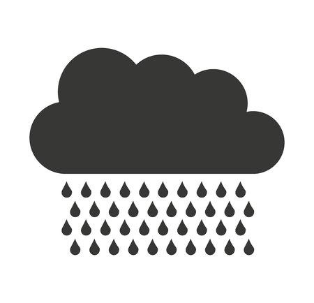 rain drop: cloud rain drop icon vector illustration design