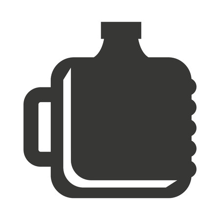purify: big bottle water icon vector illustration design Illustration