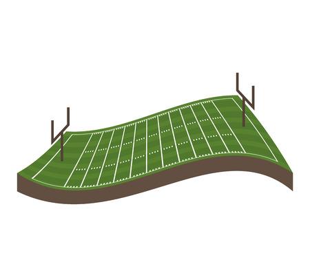 field football american sport vector illustration icon design