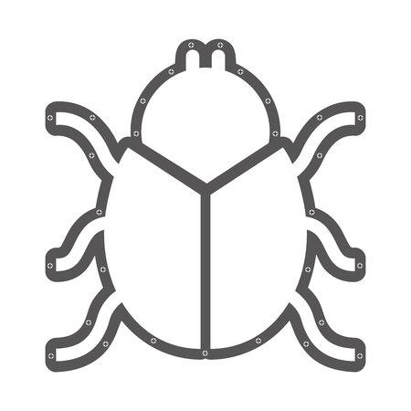 entomology: scarab beetle animal vector illustration icon design Illustration