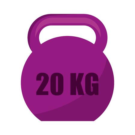 gym equipment: weight gym equipment icon vector illustration design