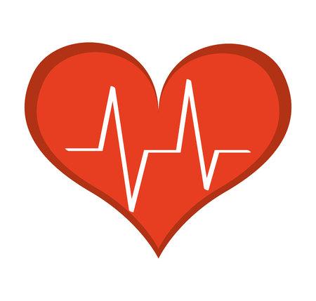 cardio: heart cardio pulse icon vector illustration design Illustration