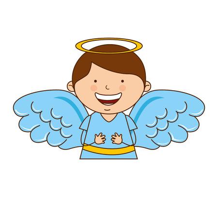 angel boy character icon vector illustration design