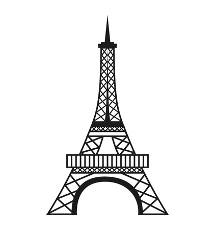french culture: tower eiffel structure icon vector illustration design
