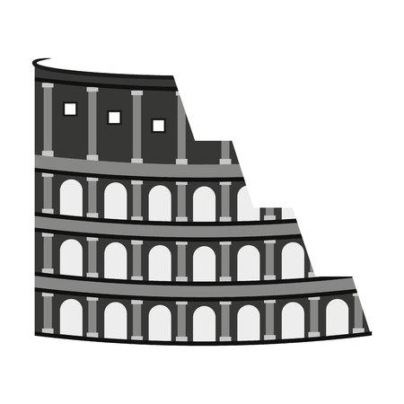 localization: coliseum rome italy icon vector illustration design Illustration