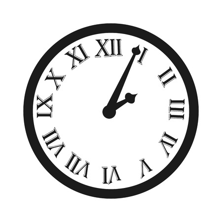watch new year: clock time watch roman numbes icon vector illustration design Illustration