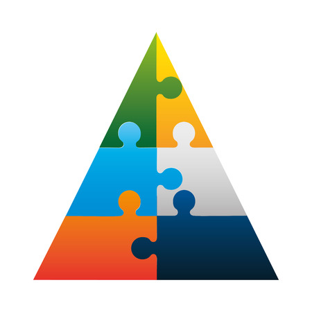 Piramid infographic presentatie pictogram vectorillustratieontwerp