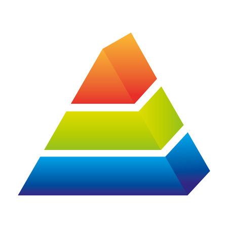 pyramidal: piramid infographic presentation icon vector illustration design