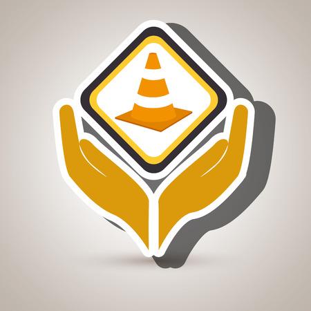 hands tools construction symbol vector illustration eps 10
