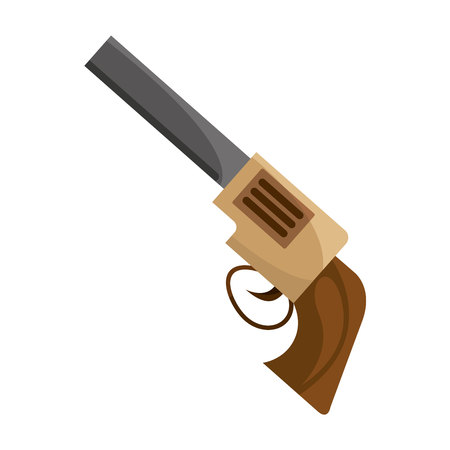 gun sherif wild west icon graphic isolated vector Illustration