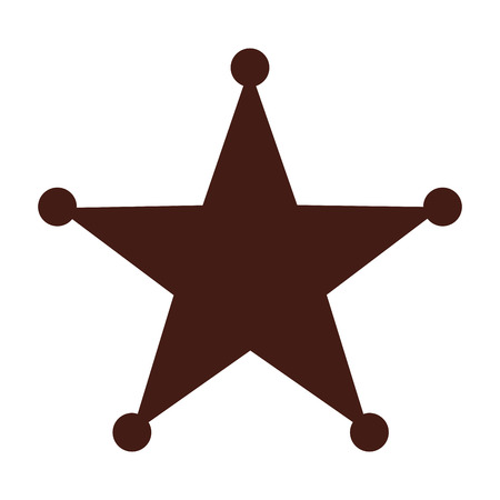 star sherif wild west icon graphic isolated vector Illustration
