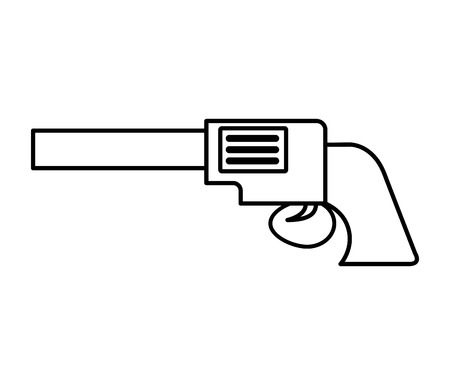 sherif: gun sherif wild west icon graphic isolated vector Illustration