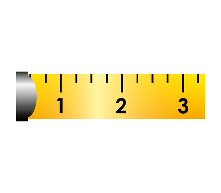 waist weight: ribbon tape measure icon graphic isolated vector