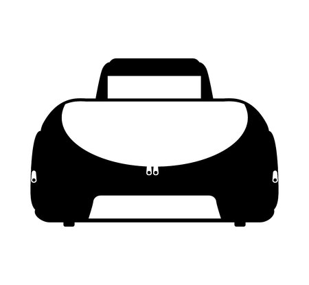 duffel: sport bag gym icon vector illustration design