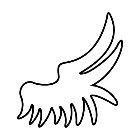 animal angelic: wing angel drawn icon graphic isolated vector Illustration