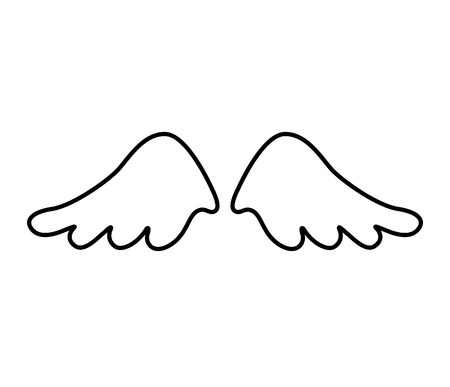 artificial wing: wings angel drawn icon vector illustration design