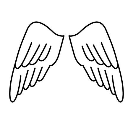 animal angelic: wings angel drawn icon vector illustration design