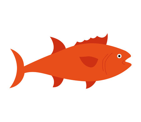 aquatic: fish animal aquatic icon vector illustration design