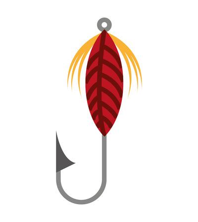 fishing hook silhouette icon vector illustration design