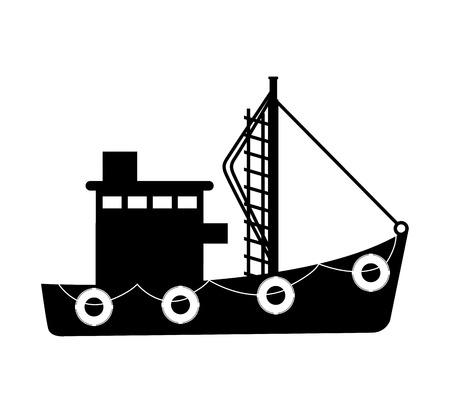 marine industry: fishing boat industry icon vector illustration design Illustration