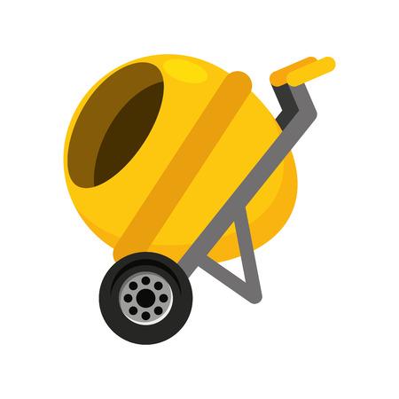renovate: mixer machine construction icon vector illustration design