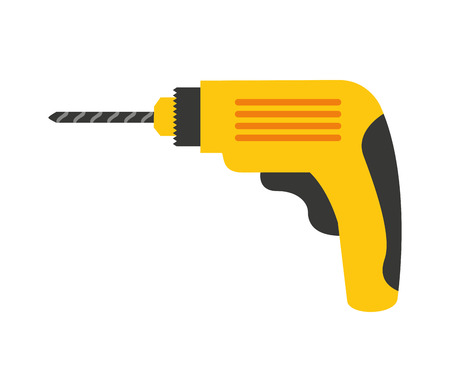 drill tool construction icon vector illustration design