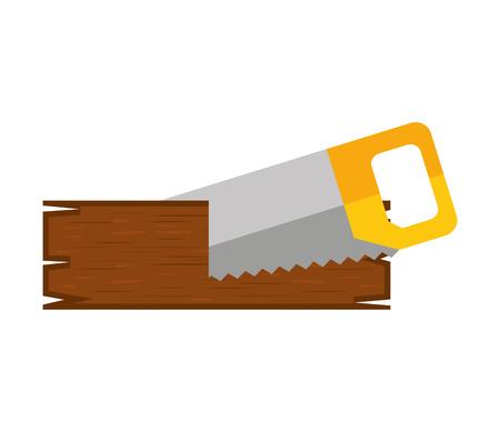 adjusting: handsaw service tool icon vector illustration design