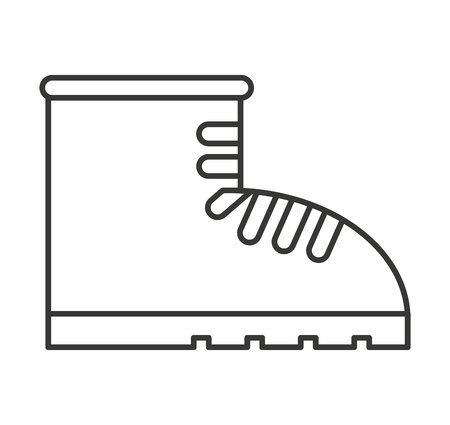 special steel: boots construction special icon vector illustration design