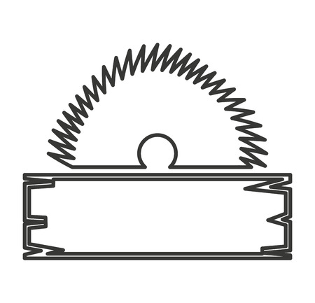 electric saw: electric saw tool icon vector illustration design