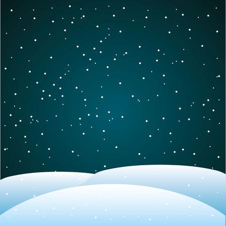 starry night: night starry landscape icon vector illustration design