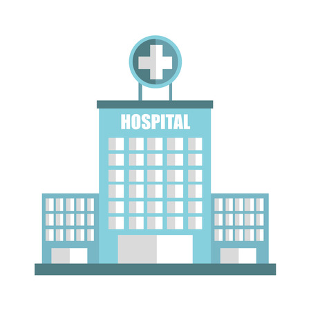 hospitalization: hospital building emergency icon vector illustration design
