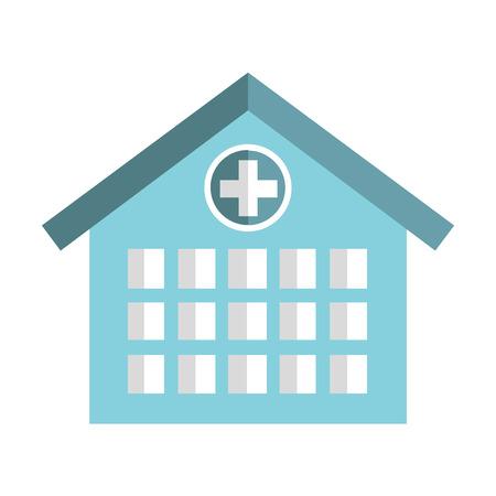 emergency icon: hospital building emergency icon vector illustration design