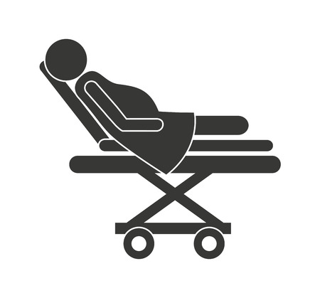 hospital stretcher: stretcher hospital emergency icon vector illustration design
