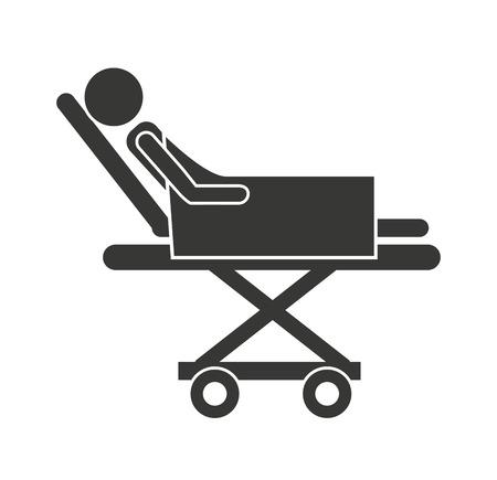 emergency stretcher: stretcher hospital emergency icon vector illustration design