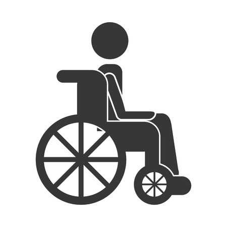 disabled access: human person wheelchair icon vector illustration design