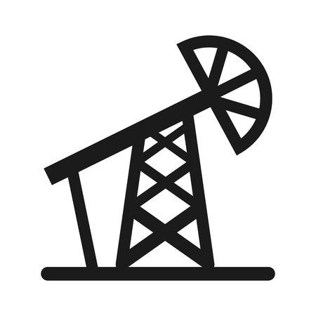 benzene: drill oil industry icon vector illustration design