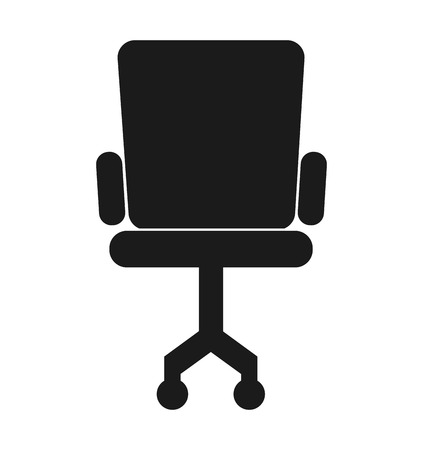 design office: office chair silhouette icon vector illustration design