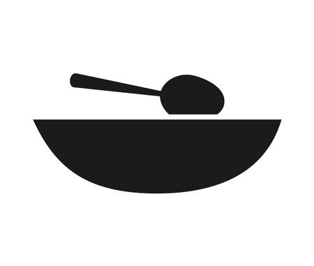 soup spoon: dish soup spoon icon vector illustration design Illustration
