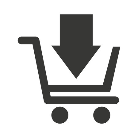 cart shopping store icon vector illustration design Ilustracja