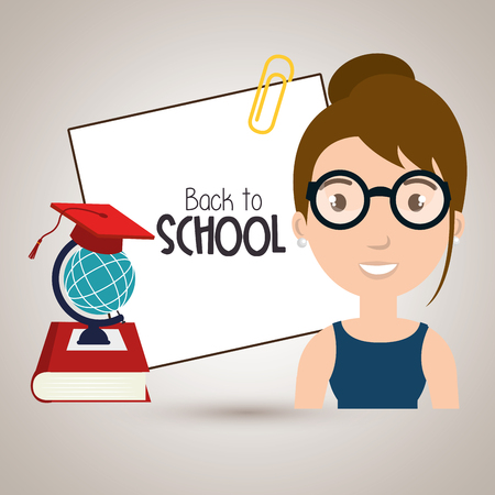 illsutration: student book map school vector illustration eps 10